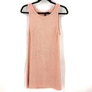 White House Black Market sparkly pink tank dress M